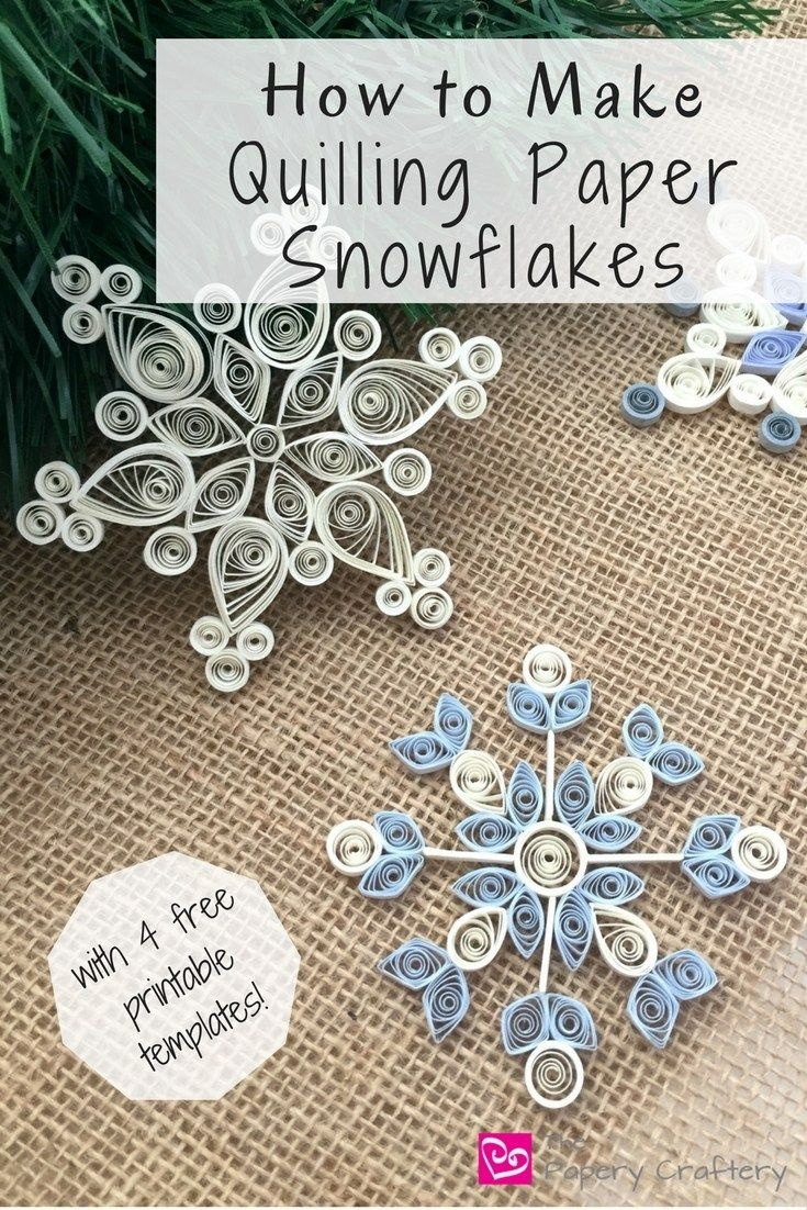 How To Make Quilling Paper Snowflakes | Paper | Paper Quilling - Free Printable Quilling Patterns