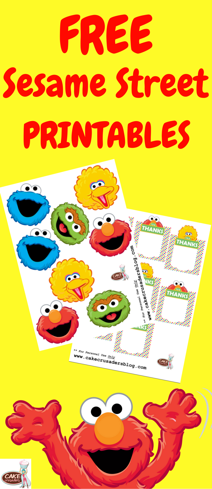 How To Make Sesame Street Party Favour Box Decorations | Sesame - Free Printable Sesame Street Cupcake Toppers
