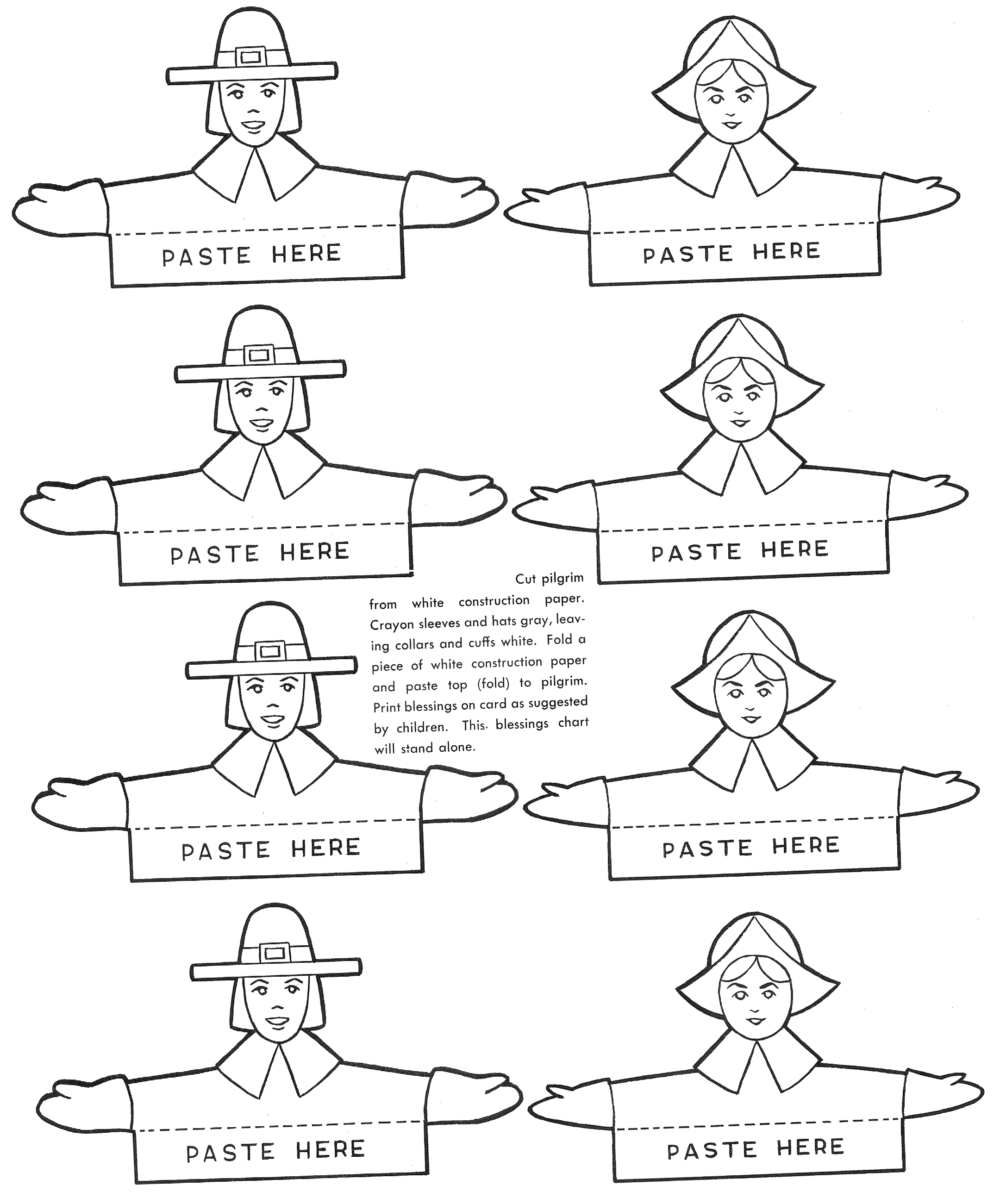 How To Make Thanksgiving Place Cards - Kids Crafts & Activities - Free Printable Thanksgiving Place Cards To Color