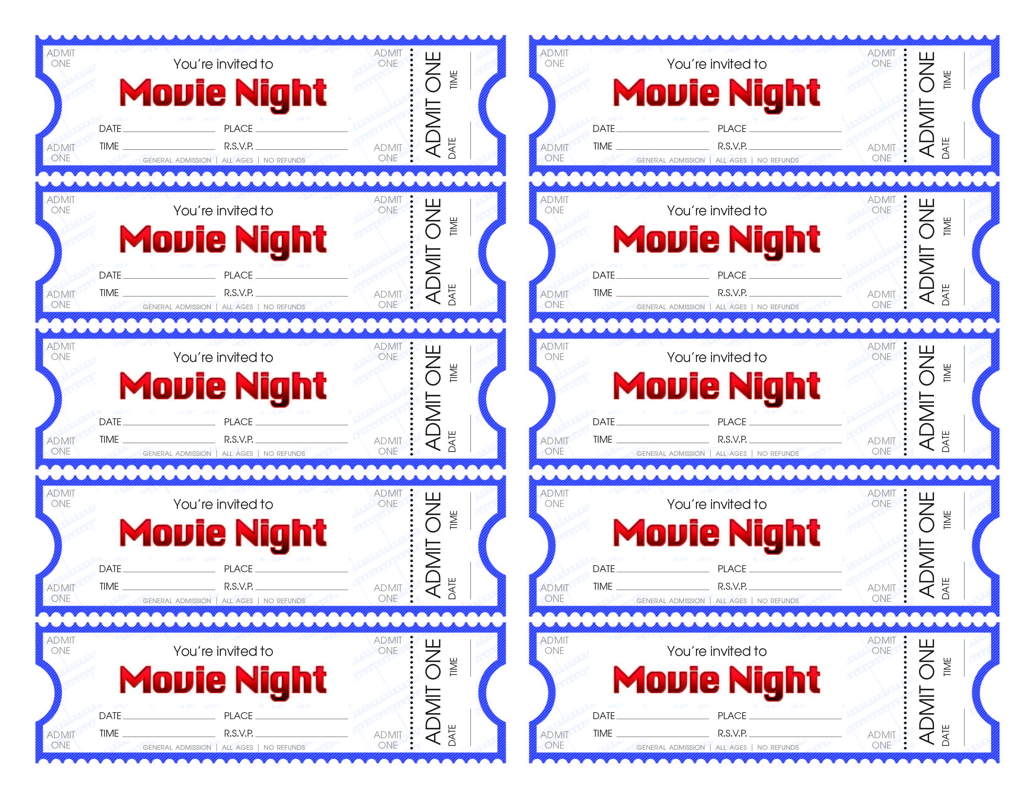 How To Make Your Own Tickets - Tutlin.psstech.co - Make Your Own Tickets Free Printable