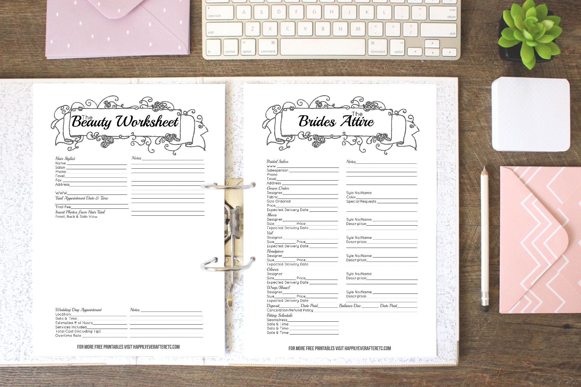 How To Put Together Your Perfect (Free) Wedding Binder (+ 42 Free - Free Printable Wedding Binder Templates