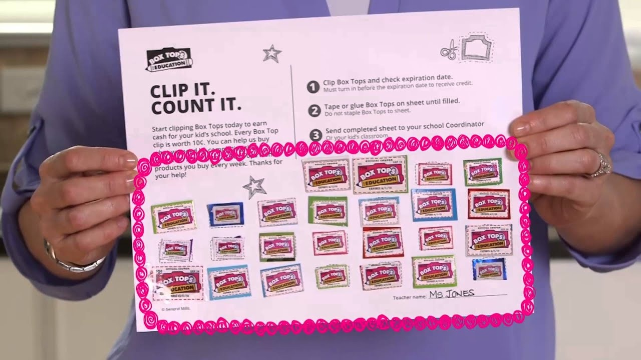 How To Submit Box Tops - Youtube - Free Printable Box Tops For Education