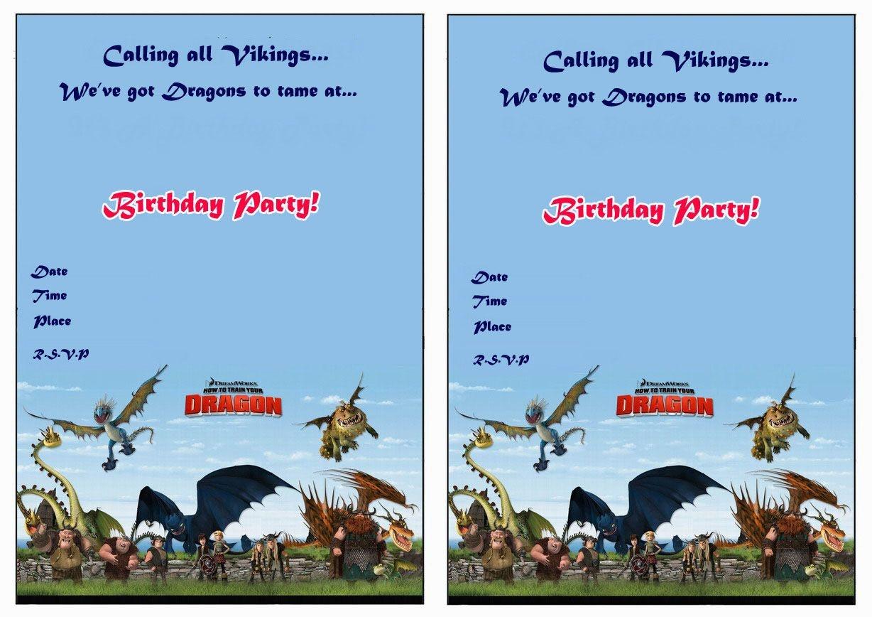 How To Train Your Dragon Birthday Printable Invitations Click Image - How To Train Your Dragon Birthday Invitations Printable Free