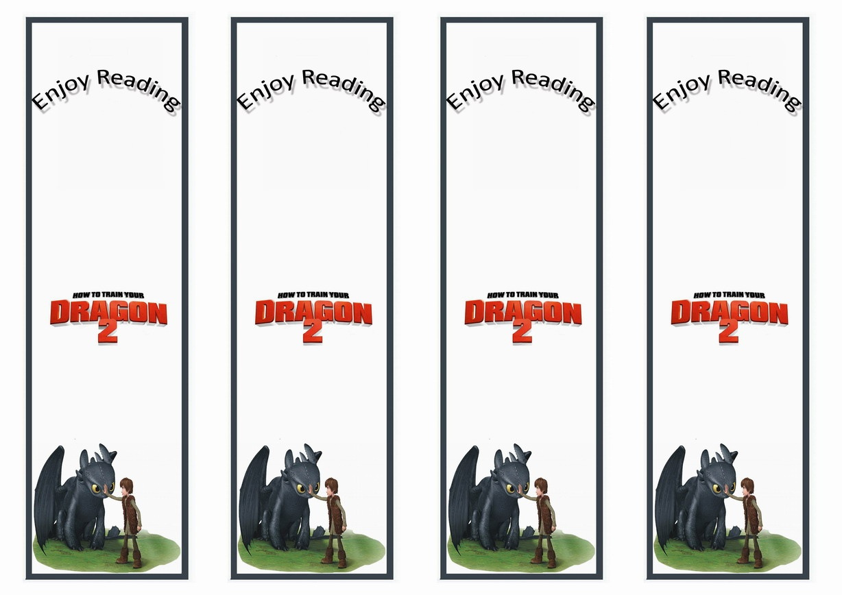 How To Train Your Dragon Bookmarks   Birthday Printable - Free Printable Dragon Bookmarks