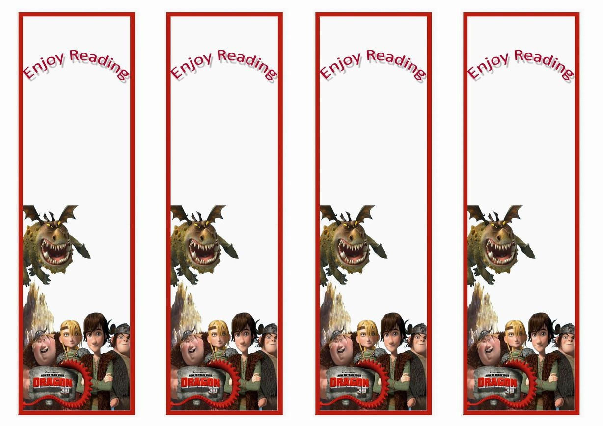 How To Train Your Dragon Bookmarks   Bookmakers   How Train Your - Free Printable Dragon Bookmarks