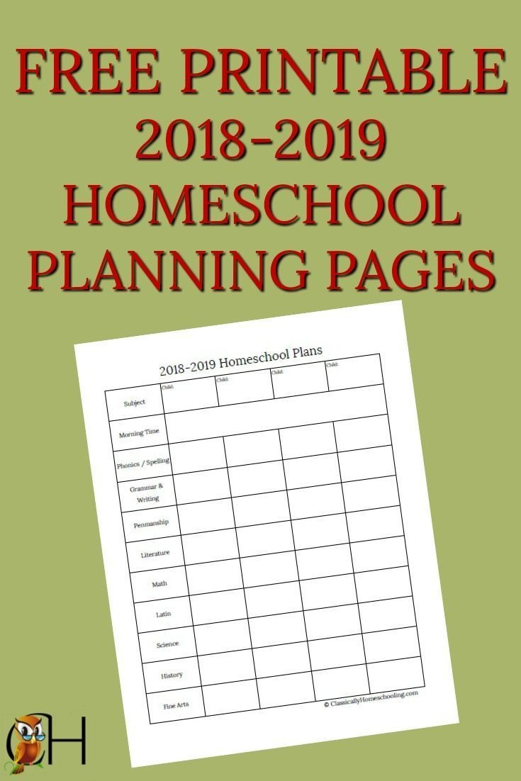 How To Use These Free Homeschool Planning Pages | Homeschooling - Free Printable Homeschool Curriculum