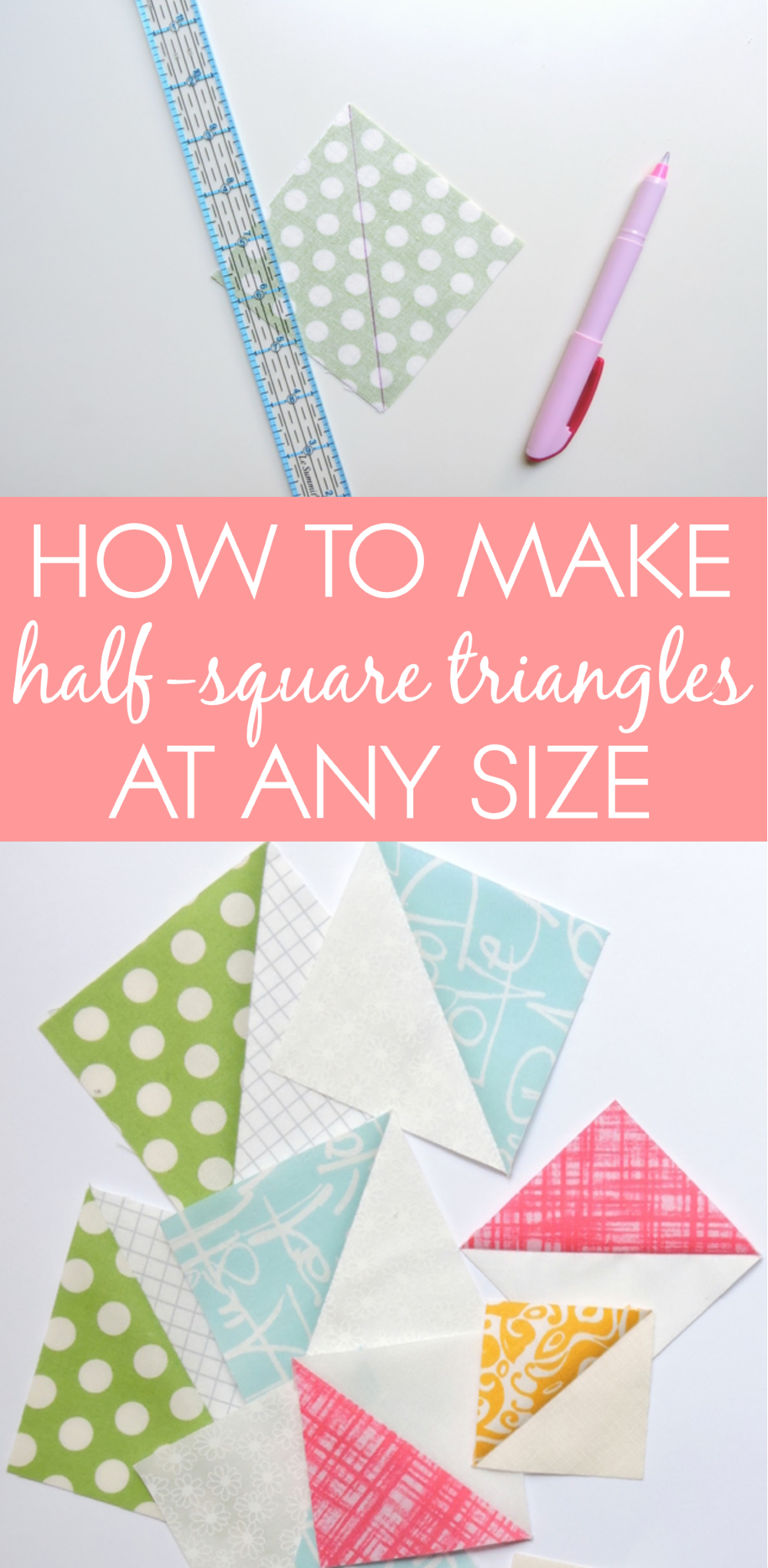 Hst Tutorial: Triangle Papers | Blossom Heart Quilts - Printable Thangles Free