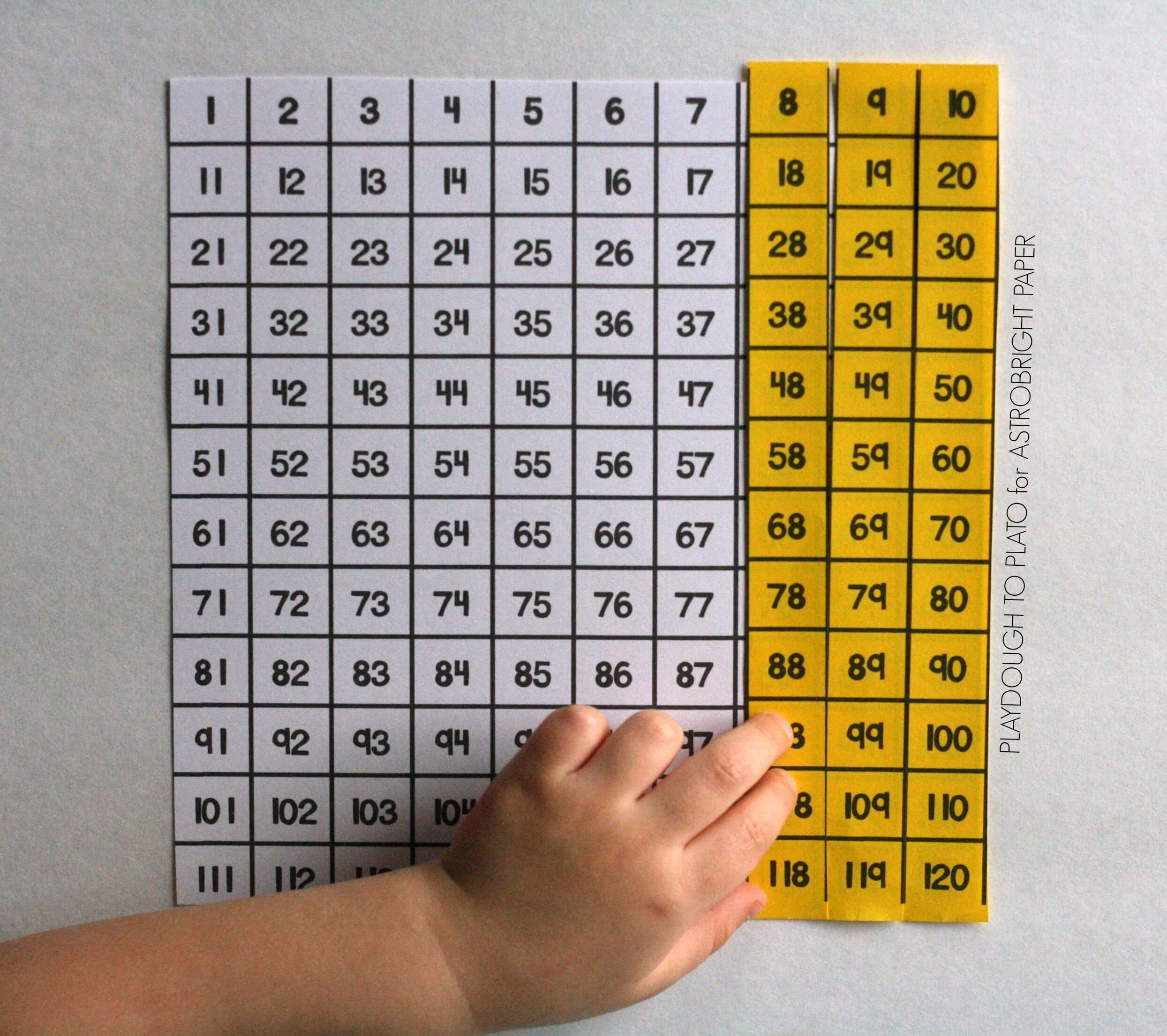 Hundred Chart Puzzles #colorize - Playdough To Plato - Free Printable Hundreds Chart To 120