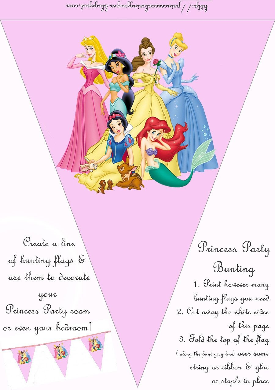 Hundreds Of Free, Printable Princess Coloring Pages, Princess Party - Free Printable Princess Birthday Banner