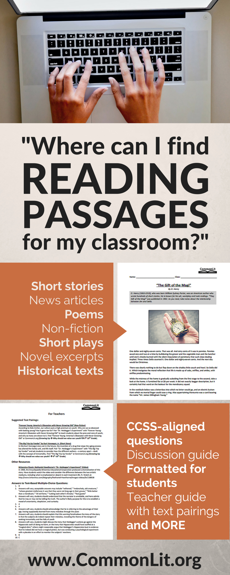 Hundreds Of Free Short Passages For Students In Grades 5-12 - Free Printable Short Stories For High School Students