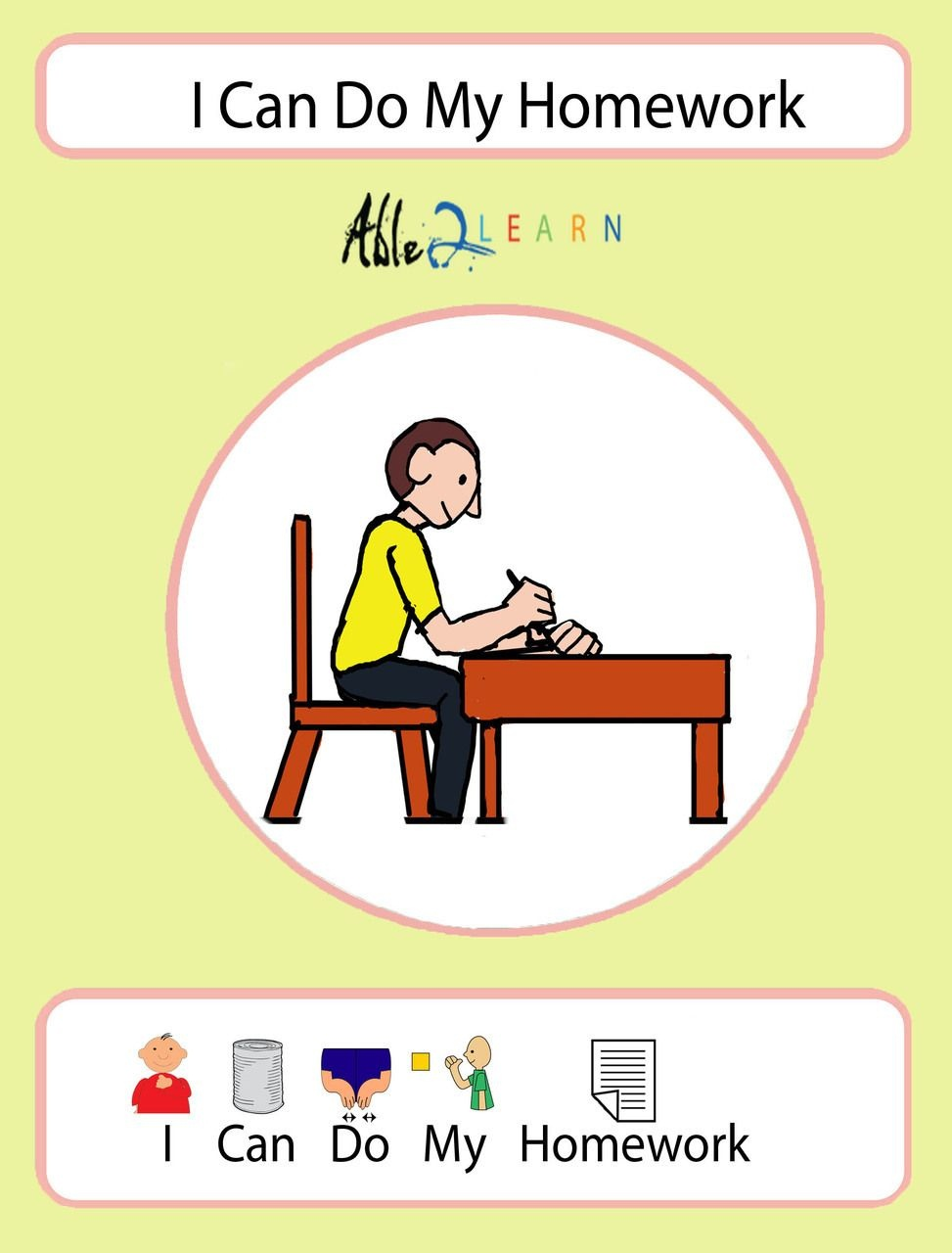 I Can Do My Homework Social Story: Pages 10 | Icons | Social Stories - Free Printable Social Stories