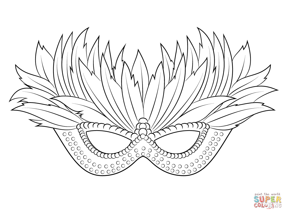 "I Love Coloring Ii ~ Venetian Mardi Gras Mask   Icolor ""the Arts - Free Printable Mardi Gras Masks"