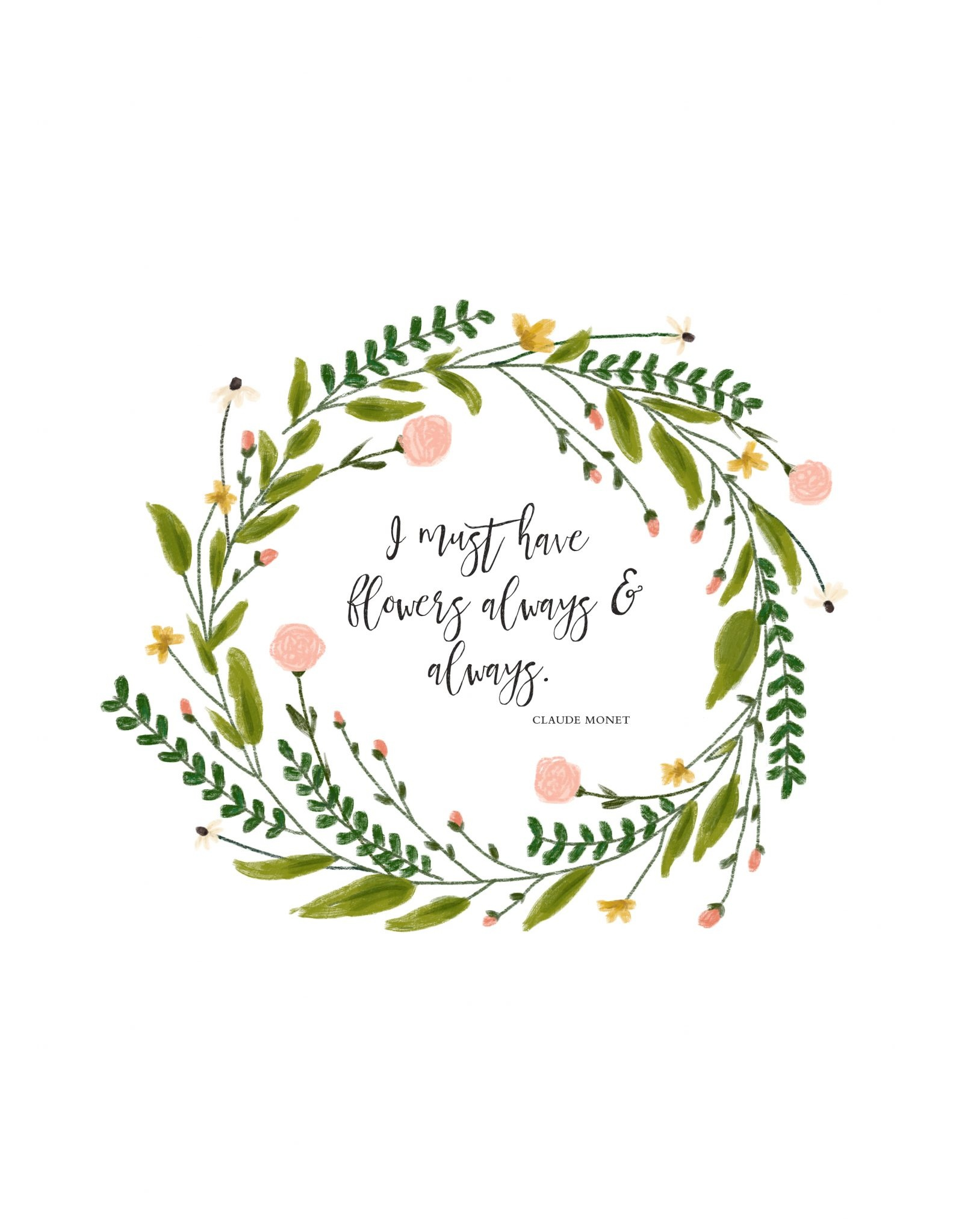 I Must Have Flowers   Free Spring Printable - A Burst Of Beautiful - Free Printable Spring Decorations