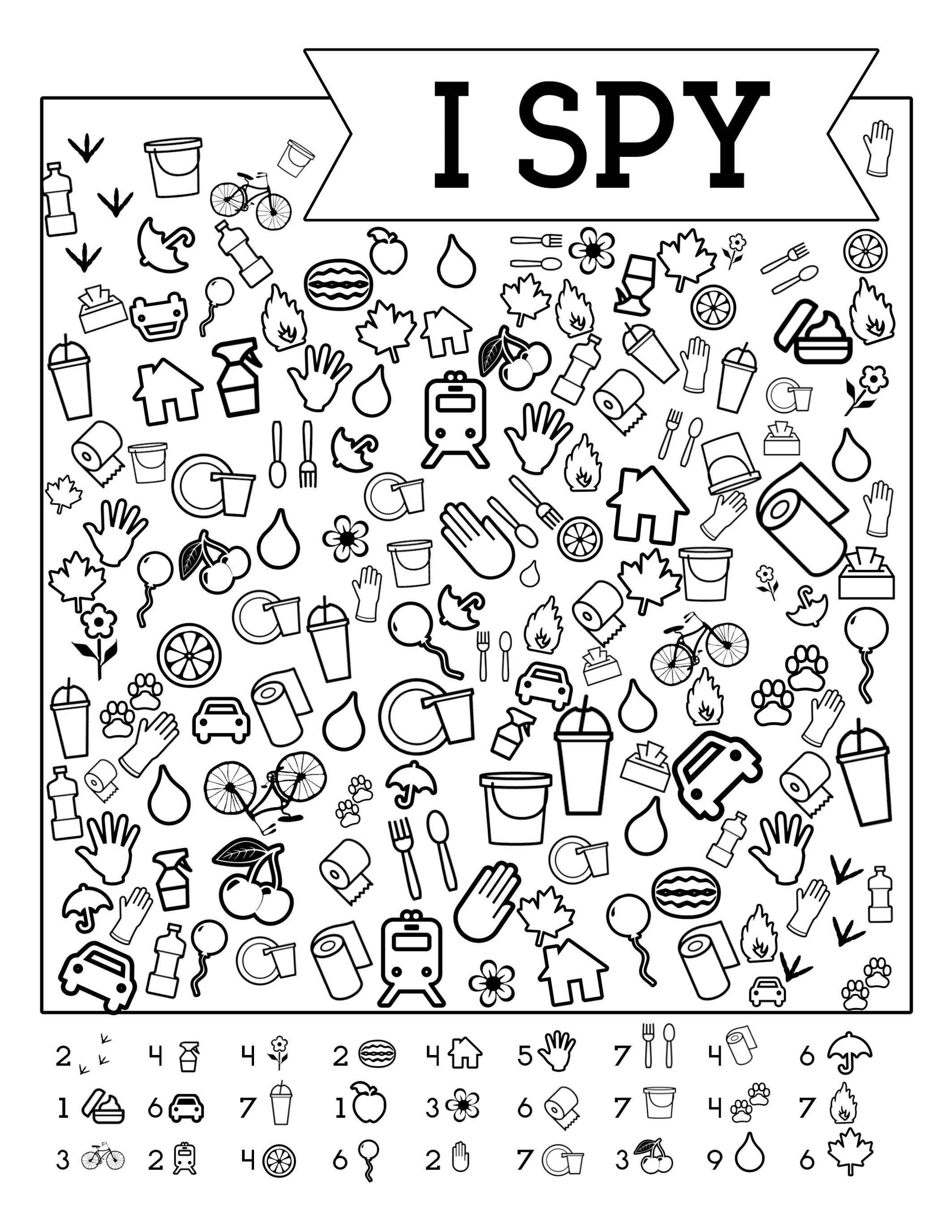 I-Spy-Free-Printable-Kids-Game   Spy School Camp   Spy Games For - Free Printable Activities For Kids