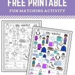 I Spy Winter Free Printable For Matching And Counting | Fun Early   Free Printable Early Childhood Activities