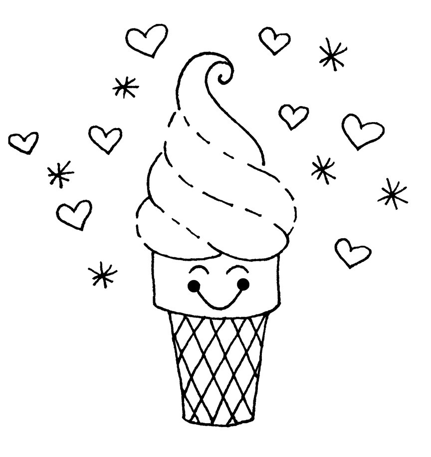 Ice Cream Coloring. Ice Cream Coloring Pages 4 Ice Cream Coloring - Ice Cream Color Pages Printable Free