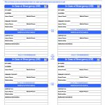 Id Card Template | In Case Of Emergency Cards | School | Id Card   Free Printable Id Cards Templates