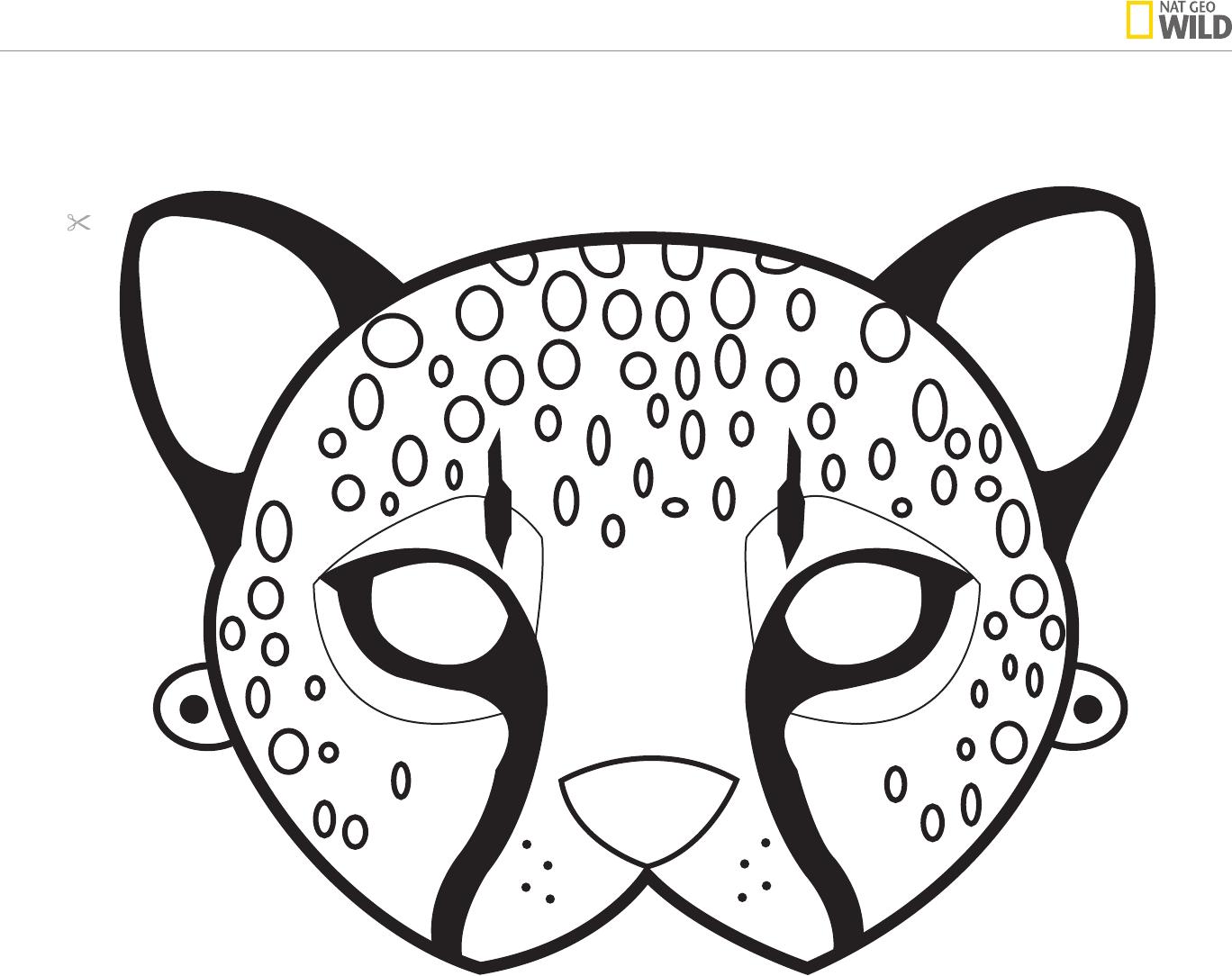 Ideas For A Natural African Safari Theme Party | Cheetah Birthday - Animal Face Masks Printable Free