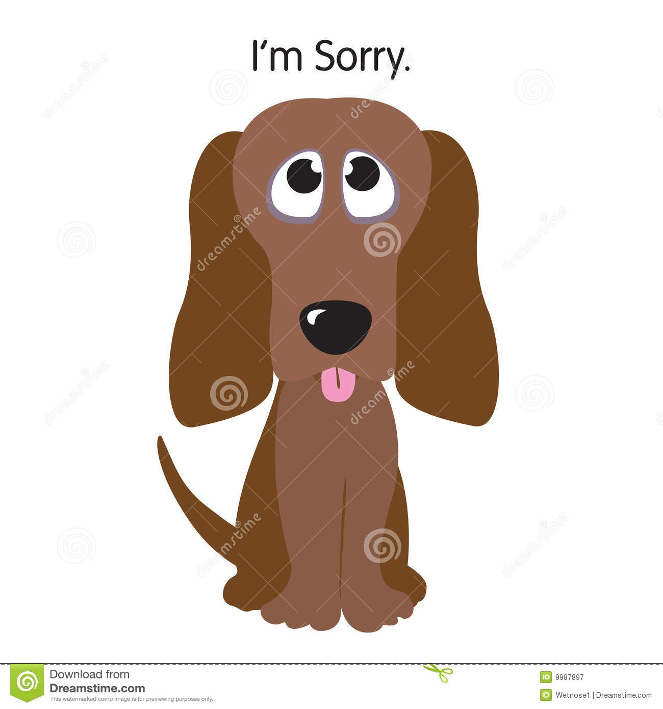 I'm Sorry Greeting Card Stock Vector. Illustration Of Being - 9987897 - Free Printable I Am Sorry Cards
