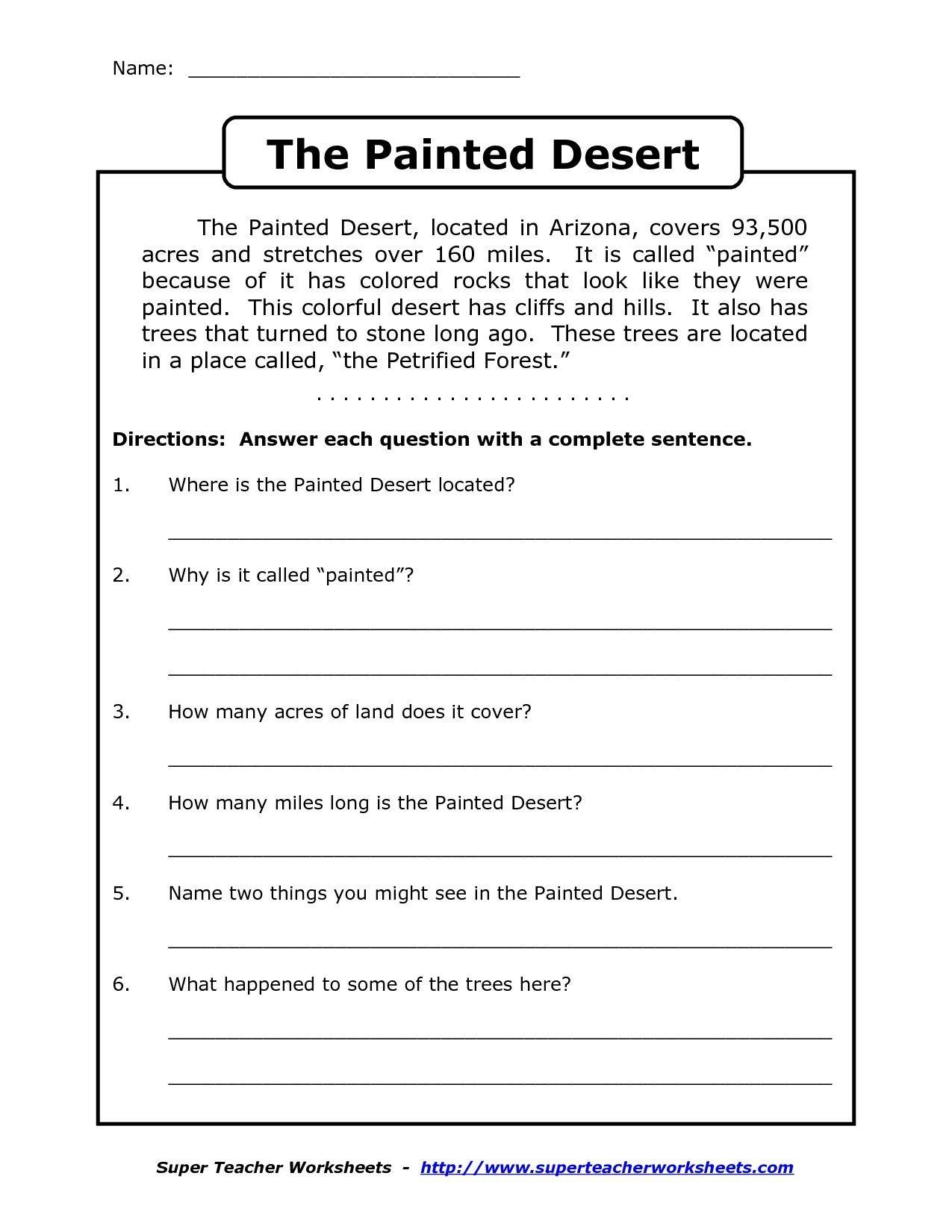Image Result For Free Printable Worksheets For Grade 4 Comprehension - Free Printable Reading Comprehension Worksheets Grade 5