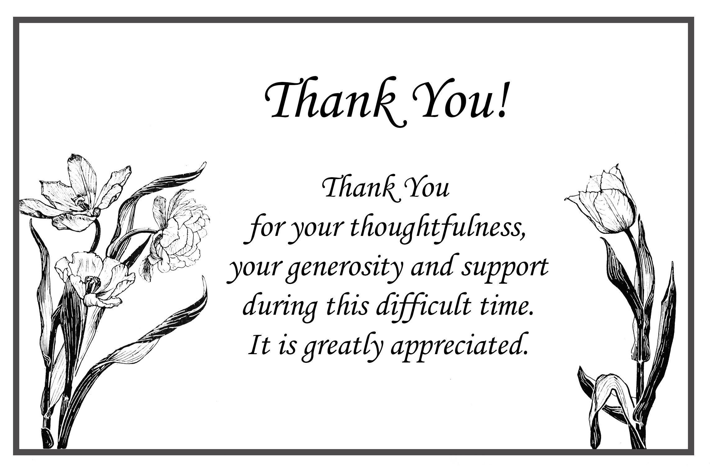 Image Result For Funeral Thank You Card Ideas | Mom | Funeral Thank - Thank You Sympathy Cards Free Printable