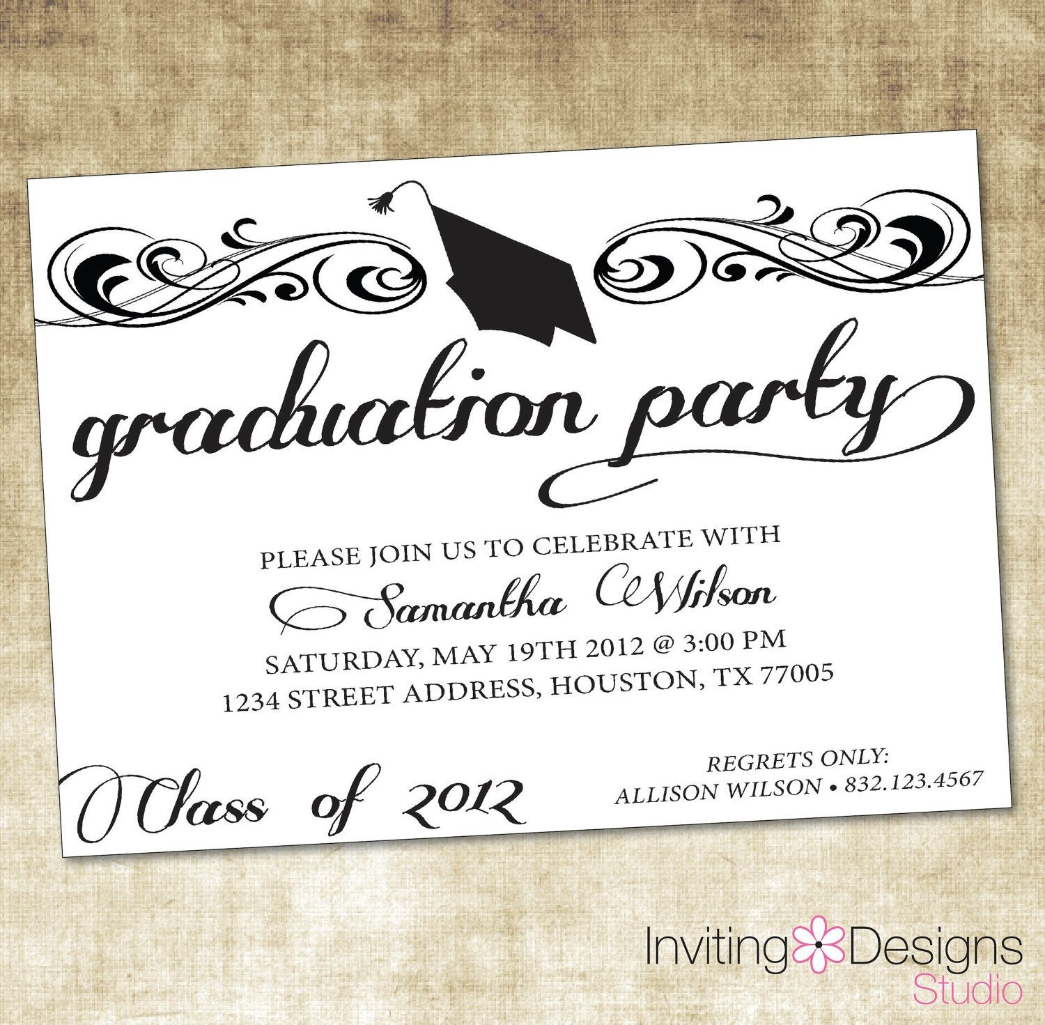 Image Result For Graduation Party Invitation Wording Ideas   Zach - Free Printable Graduation Party Invitations 2014