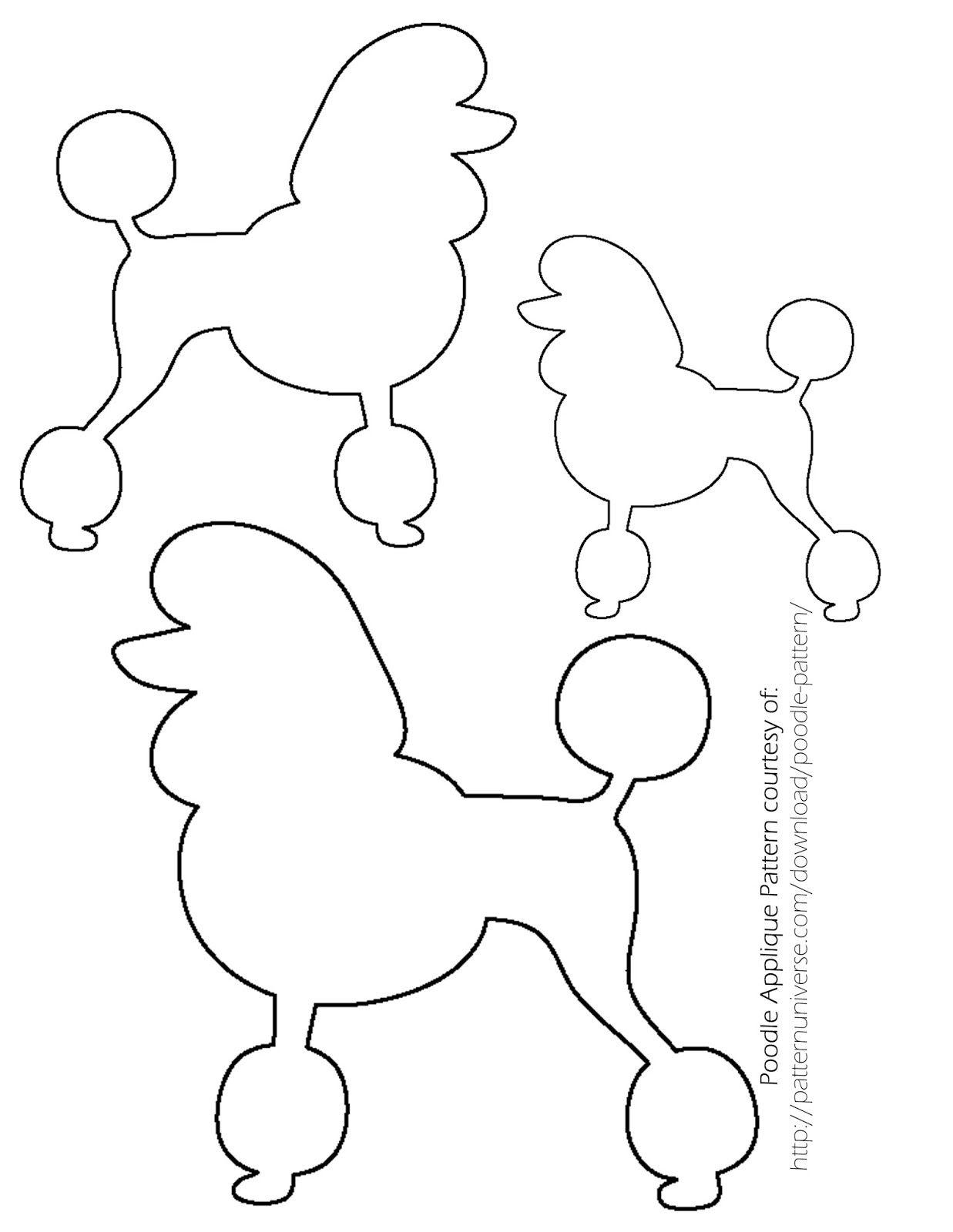 Image Result For Poodle Drawing | Poodles | Sock Hop Costumes, Sock - Free Printable Poodle Template