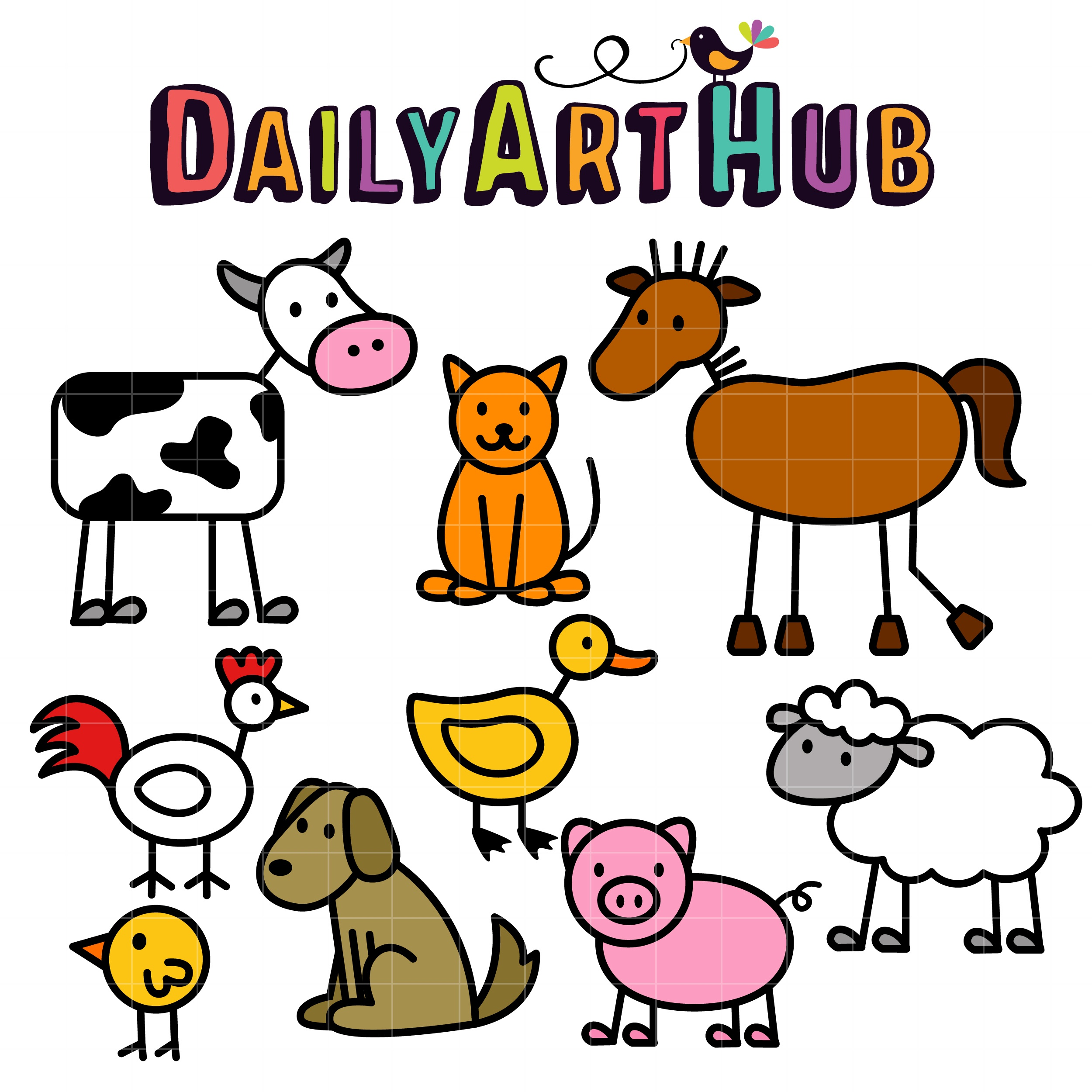 Images Farm Animals Clipart | Free Download Best Images Farm Animals - Free Printable Farm Animal Clipart
