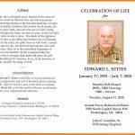 In Memoriam Cards Template Free Celebration Of Life Program   Free Printable Memorial Card Template