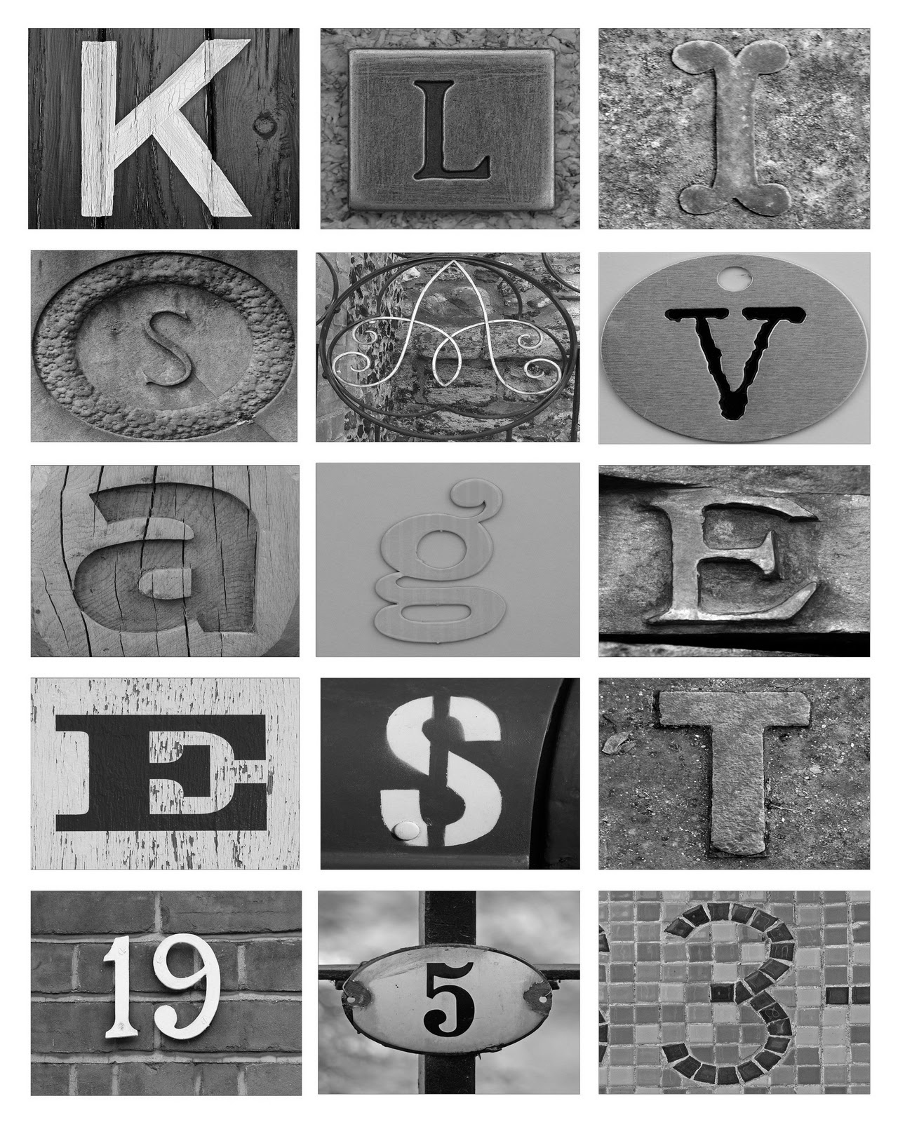 In This Crazy Life: Diy Letter Art On The Cheap! - Free Printable Photo Letter Art