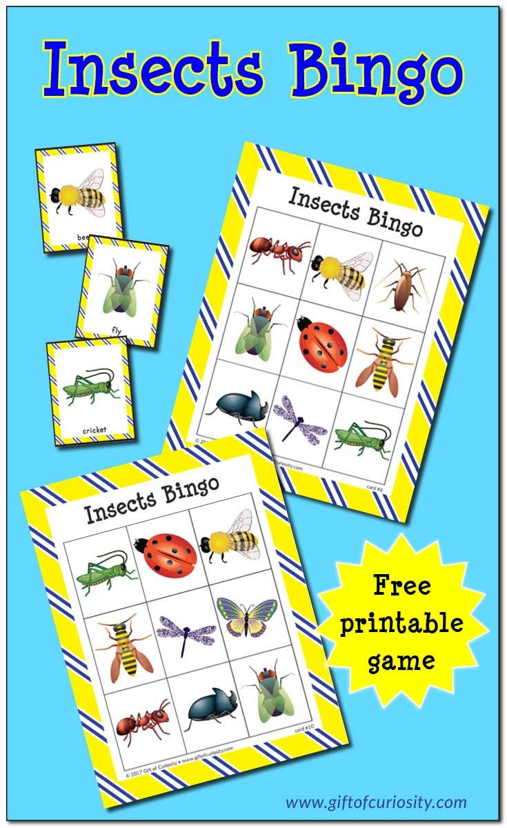 Insects Bingo {Free Printable} | Teaching Preschool | Insect - Free Printable Games For Toddlers