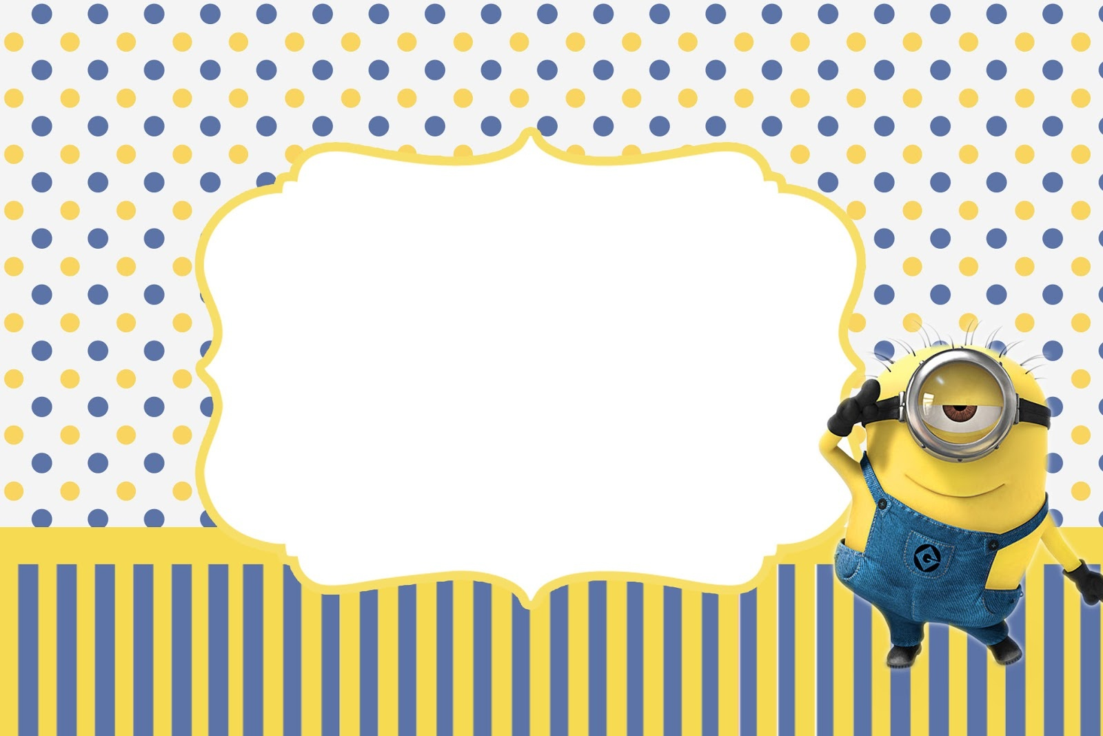 Inspired In Minions Party Invitations, Free Printables. - Oh My - Make Printable Party Invitations Online Free