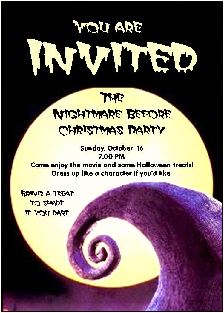Inspiring Nightmare Before Christmas Birthday Invitations For - Free Printable Nightmare Before Christmas Birthday Invitations