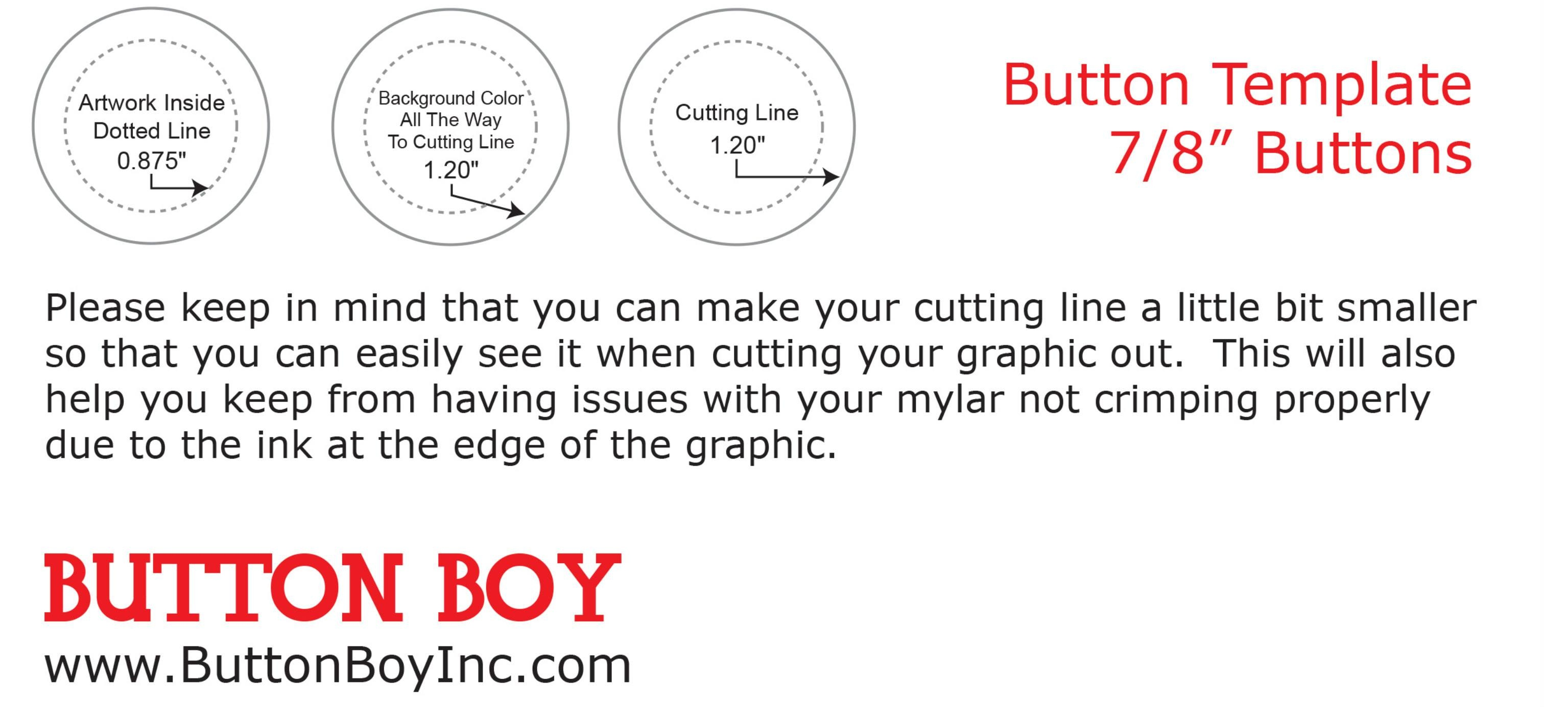 Instructions/templates/faqs - Free Printable Button Templates