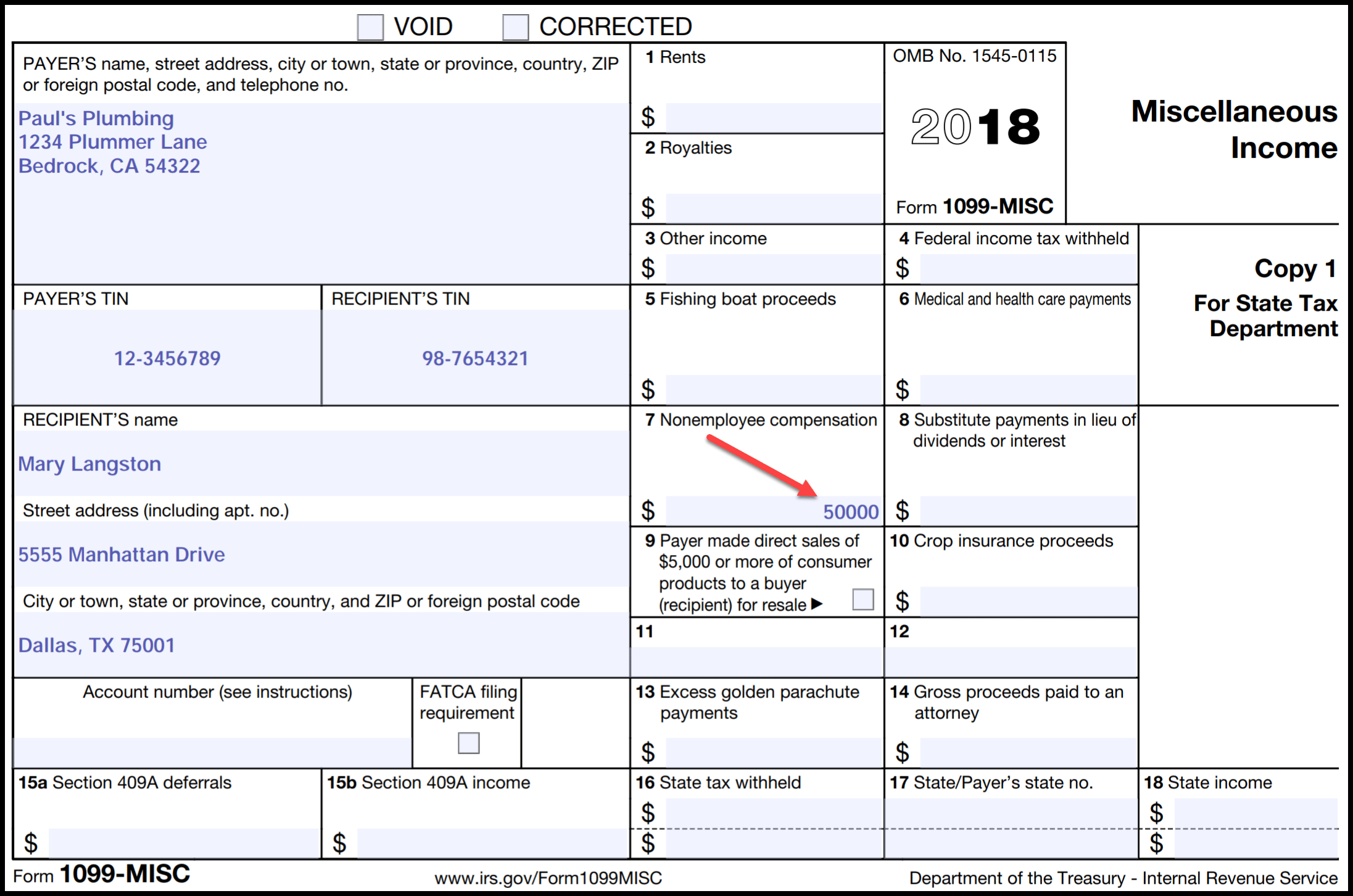 Irs Form 1099 Reporting For Small Business Owners - Free Printable 1099 Form
