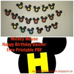 It's My Wonderful Chaotic Life: Mickey Mouse Birthday Party Free   Free Printable Mickey Mouse Birthday Banner
