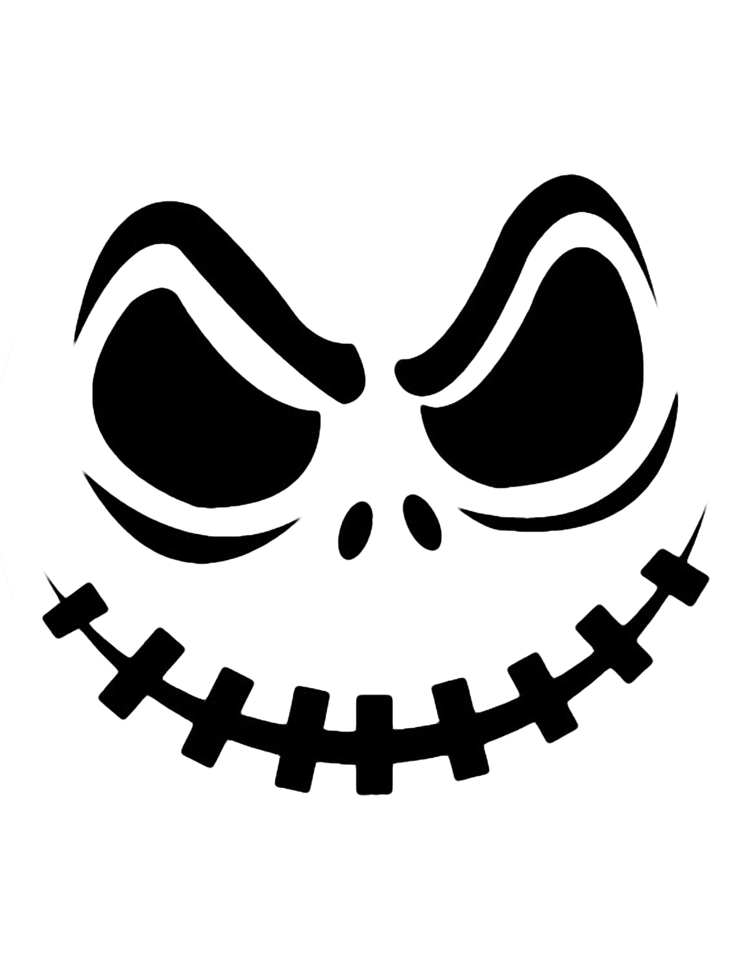 Jack Skellington Pumpkin | Kiddie Crafts | Halloween Pumpkin - Pumpkin Cutouts Printable Free