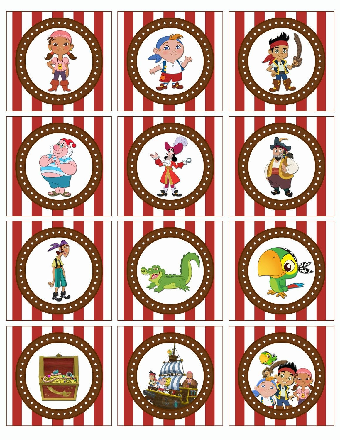Jake And The Neverland Pirates Free Printables   Jake And The - Free Printable Jake And The Neverland Pirates Cupcake Toppers