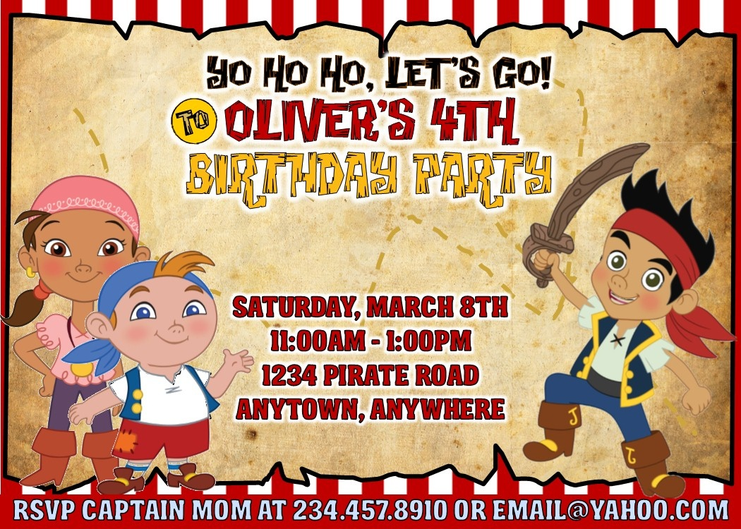 Jake And The Neverland Pirates Party Games, Invitations And More! - Free Printable Jake And The Neverland Pirates Cupcake Toppers