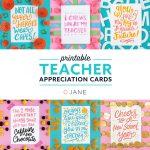 Jane Free Teacher Appreciation Printable Cards | Teacher   Free Teacher Appreciation Week Printable Cards