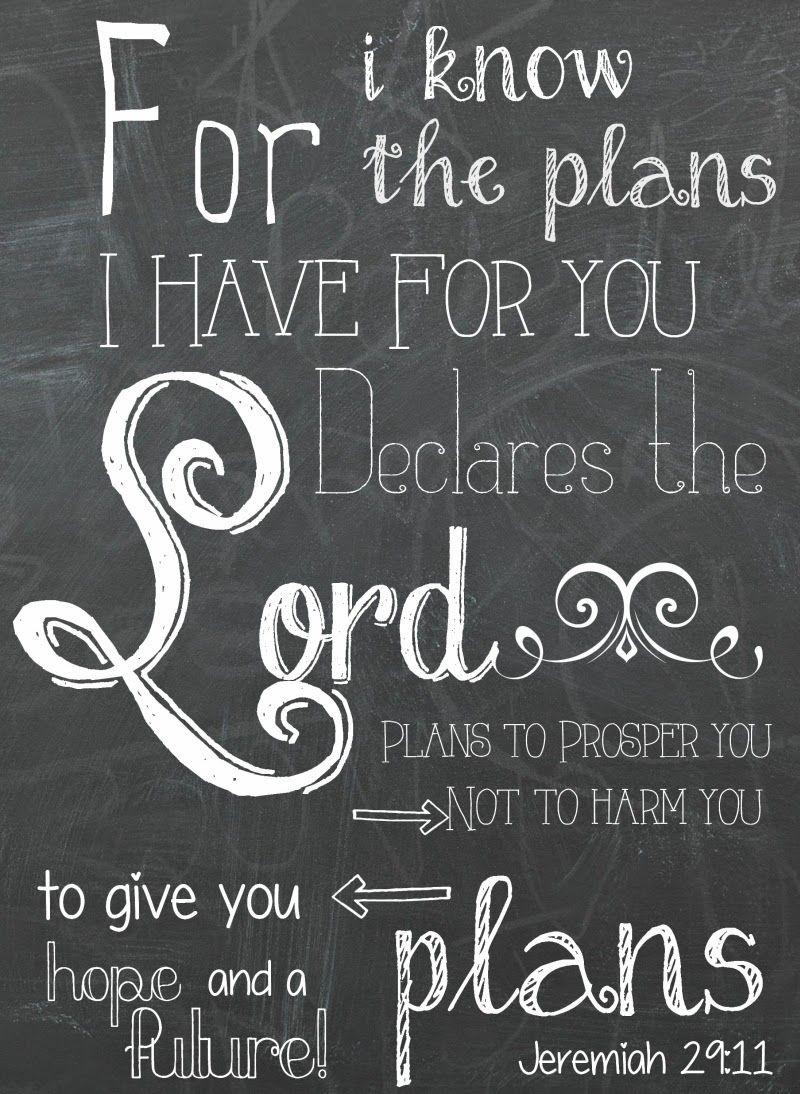 Jeremiah 29:11 Free Chalkboard Printable | F Dean Hackett - Jeremiah 29 11 Free Printable