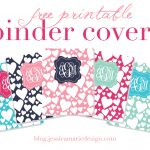 Jessica Marie Design Blog: Free Printable Binder Covers   Free Printable Binder Covers And Spines