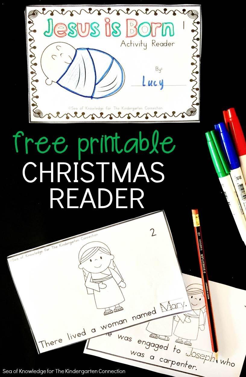 Jesus Is Born - Printable Christmas Reader   Kinderland - Free Printable Christmas Books For Kindergarten