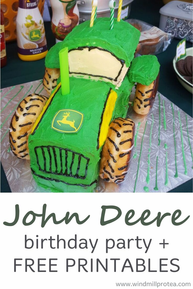 John Deere Birthday Party   Kids Parties   Windmill & Protea - Free Printable John Deere Food Labels