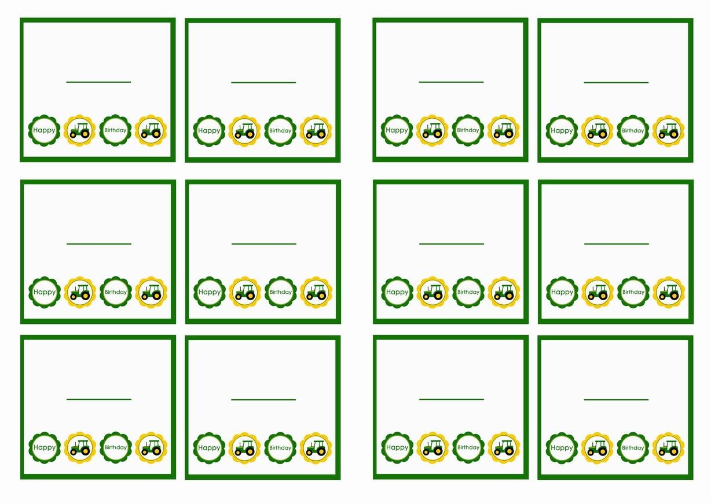 John Deere Name Tags   Birthday Printable - Free Printable John Deere Food Labels