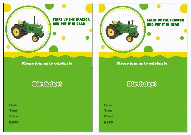 John Deere Printable Birthday Invitations Click Image Below To - Free Printable John Deere Food Labels