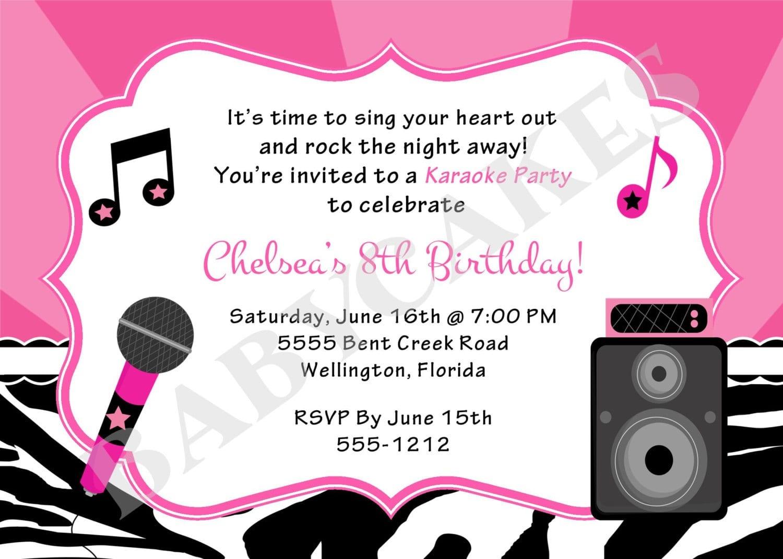 Karaoke Invitations Free - Free Printable Karaoke Party Invitations