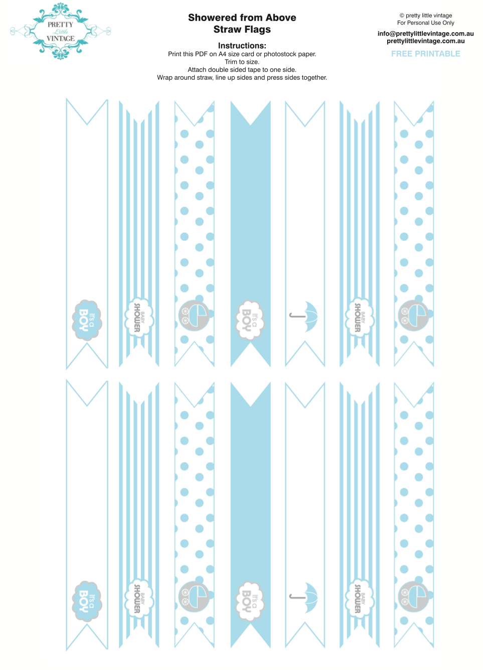 Kara's Party Ideas Showered From Above Rain Boy Baby Shower - Baby Shower Bunting Free Printable
