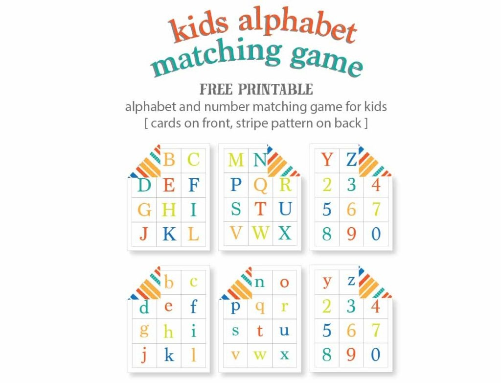 Kids Alphabet Matching Game - Free Printable | Live Craft Eat - Free Printable Alphabet Games