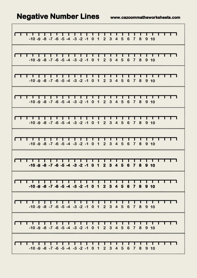 Kids : Blank Number Line Worksheets 0 10 Intrepidpath Negative Lines - Free Printable Number Line 0 20